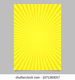 Abstract retro sun burst cover template - vector document background design from radial stripes