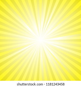 Abstract retro sun ray burst background - gradient vector graphic design with radial stripes