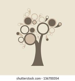 abstract retro tree