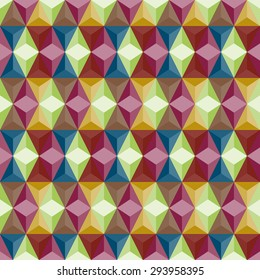 Abstract retro triangle and rhombus shapes background for any design workflow