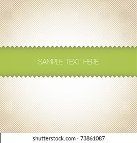 Abstract retro vector paper background - green with place for your text