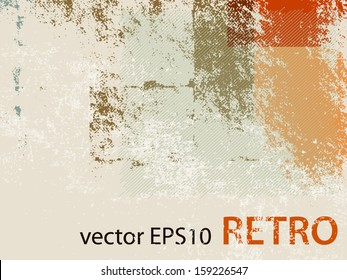Abstract retro wallpaper background - grunge style 70s