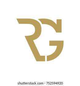 Abstract RG Initials logo, Letter Logo
