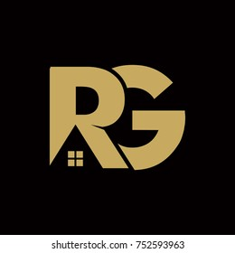 Abstract RG Residential Real Estate Logo