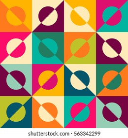 Abstract rhombus mosaic background design element.