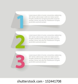 Abstract ribbon infographics template. Vector illustration.