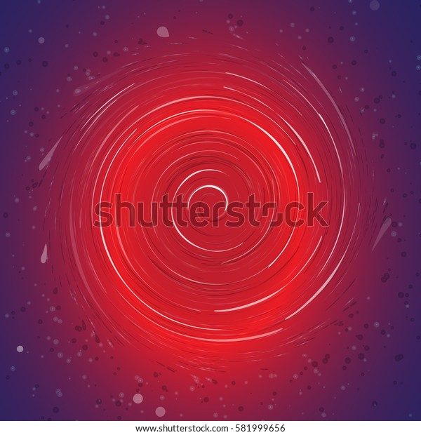Abstract ring background with luminous swirling backdrop. The energy flow tunnel. Space vortex. Vector illustration.
