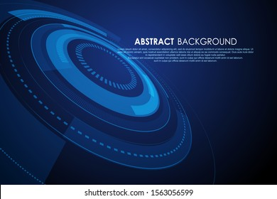 Abstract ring shape, science and technology background.