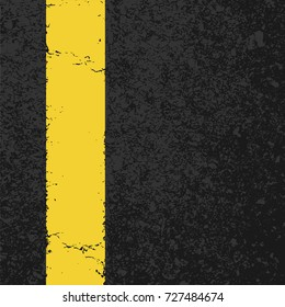 Abstract road background with rumble strip, cement or concrete wall textured. Vector illustration design with copy space.