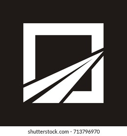 Abstract Road Logo Design Vector