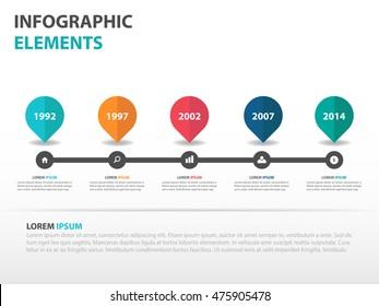 Abstract roadmap business timeline Infographics elements, presentation template flat design vector illustration for web design marketing advertising