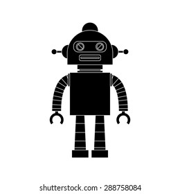 abstract robot silhouette on a white background