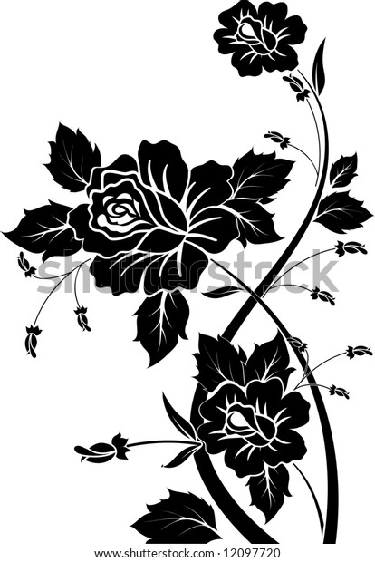 Abstract rose. Design element