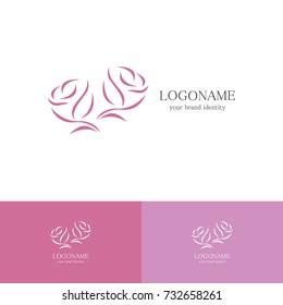 abstract rose logo