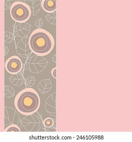 abstract rose pattern. vector background