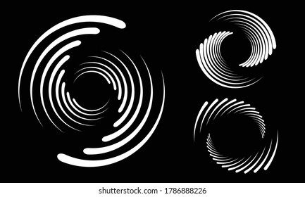 Abstract rotated lines in circle form as background. Design element for prints, logo, sign, symbol and textile pattern - Shutterstock ID 1786888226