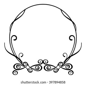 3995ab9b199 Abstract round flourish frame