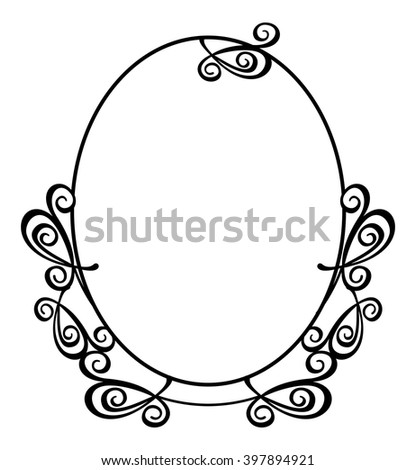 629843083f0 Abstract Round Flourish Frame Stock Vector (Royalty Free) 397894921 ...