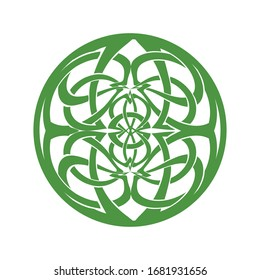 Abstract round illustration inspired by Celtic knot, vector