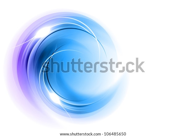 Abstract Round Shape Blue Stock Vector Royalty Free 106485650