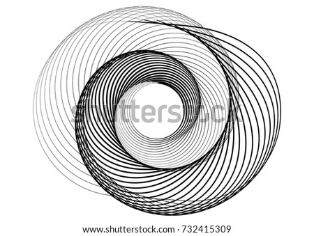 abstract round spiral template logo stock vector royalty free