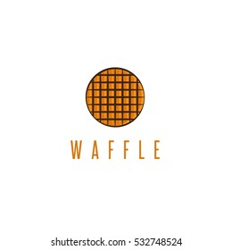 abstract rounded delicious waffle vector design template