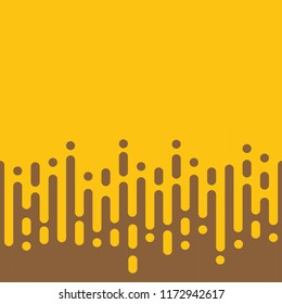 Abstract rounded lines yellow honey halftone transition. Vector background illustration.
