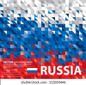 Abstract Russian Flag, Russia Background Texture (Vector Art)