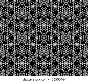Фотообои Abstract sacred geometry black and white hipster fashion pillow pattern