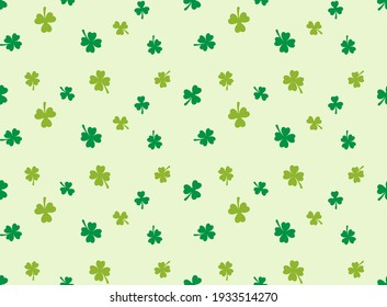 Abstract. Saint Patrick Day pattern seamless background. Design with shamrock for pillow, print, fashion, clothing, fabric, gift wrap, face mask. Vector.