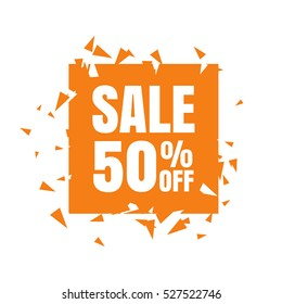 Abstract Sale banner. Sale 50% off. Vector illustration on a white background.