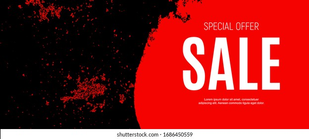 Abstract Sale Banner Background. Vector Illustration. EPS10