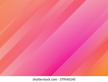 Abstract Salmon Color Background with Stripes. Vector Minimal Banner.