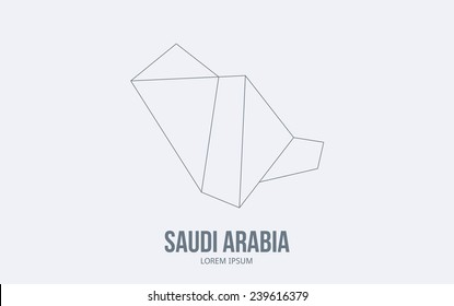 Abstract Saudi Arabia logo. Vector logotype design.