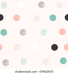 abstract scandinavian circle dots pattern