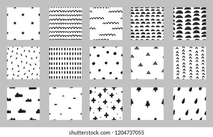 Abstract scandinavian pattern. Hand drawn modern pattern for posters, cards, t-shirts.