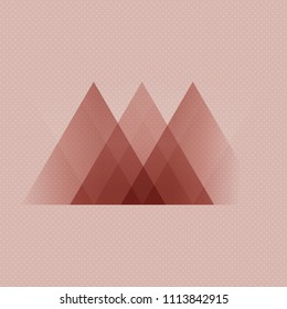 Abstract Scandinavian style low poly design background