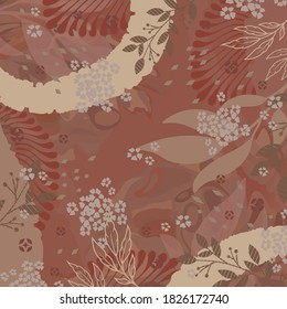 Abstract scarf pattern design for hijab on maroon color background