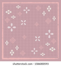 Abstract scarf pattern on pink. Hijab design