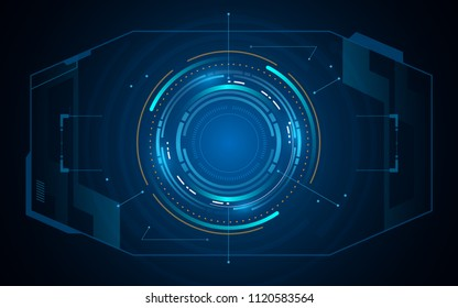 abstract sci fi cyber tech innovation concept template background eps 10 vector