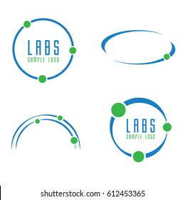 Abstract Science, Orbit or Circle Logo Icon Set