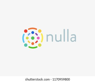 Abstract science tech logotype. Social media vector logo