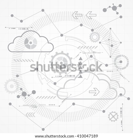 Abstract Scientific Future Technology Background Vector Stock Vector