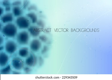 abstract scientific vector background with blurred organic shape
