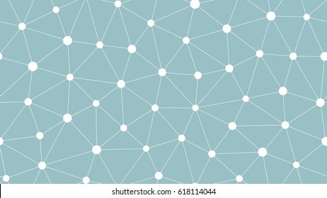 Abstract seamless background with connected dots. Vector repeating texture.