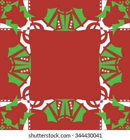 Abstract seamless background frame background in green and red