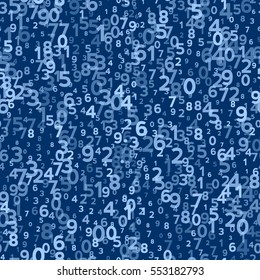 Abstract Seamless Background with Numbers. Vector