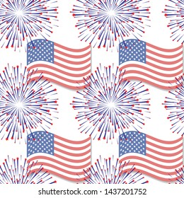 Abstract seamless background with USA flag pattern, part 5
