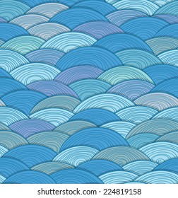 Abstract seamless background of waves