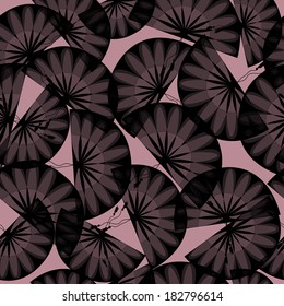 Abstract Seamless Black Fans